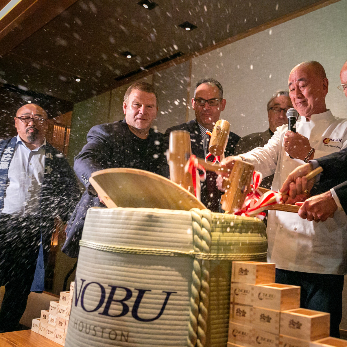 Nobu opening party barrel opening