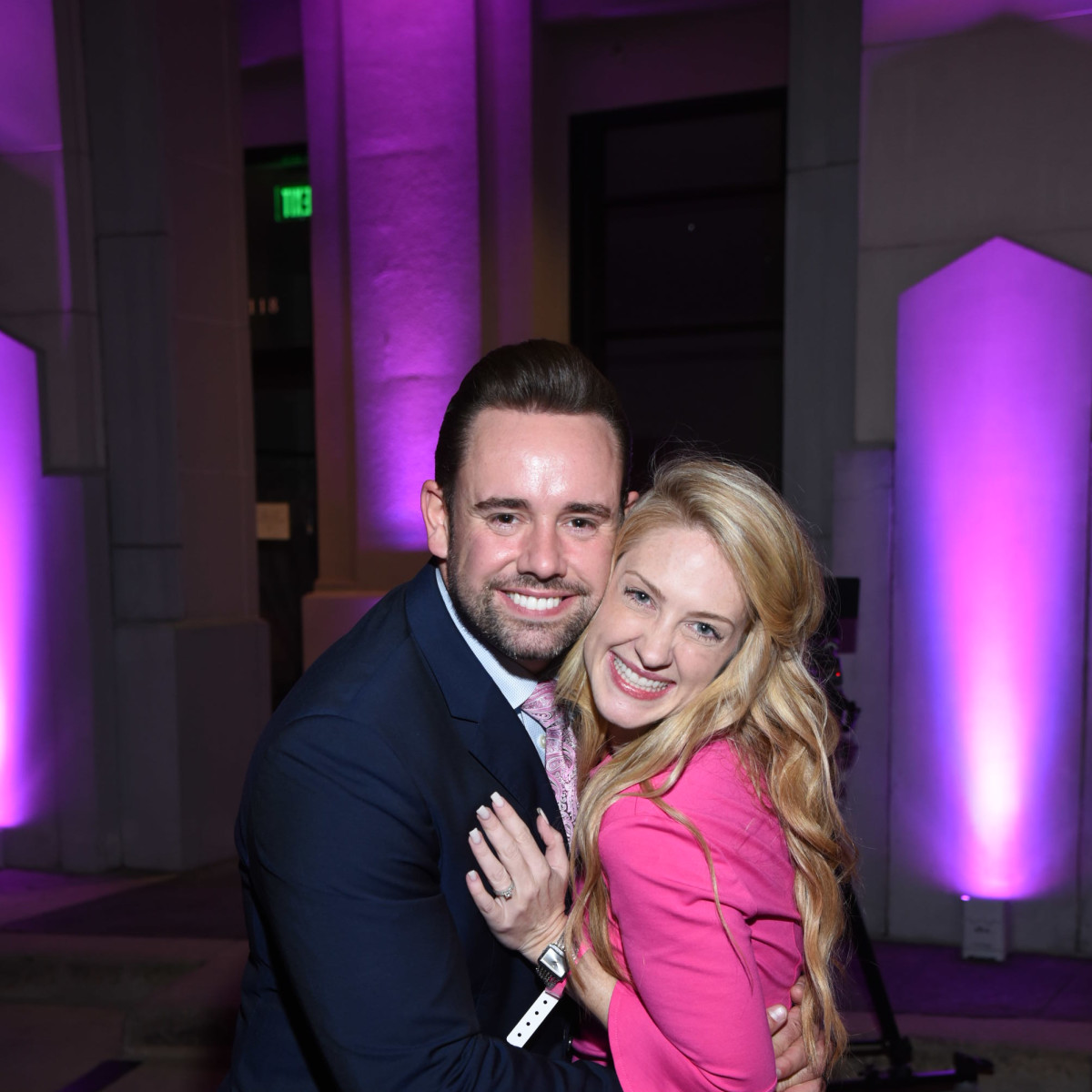 Pink Party 2018 West Ave Jacob frazelle. Stefanie frazelle.
