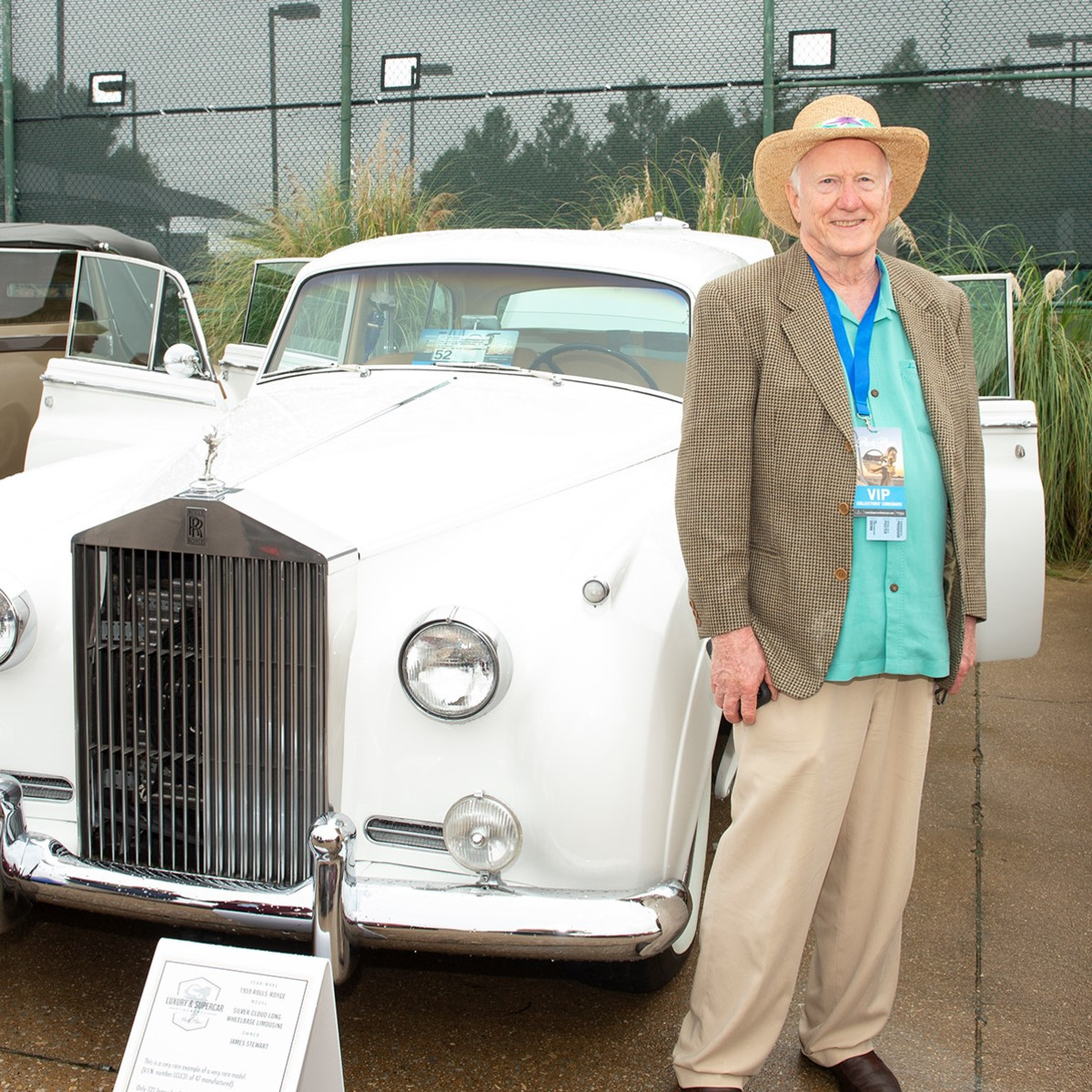 1st in Class British Classic  winner James Stewart with his 1959 Rolls-Royce Silver Cloud Limo