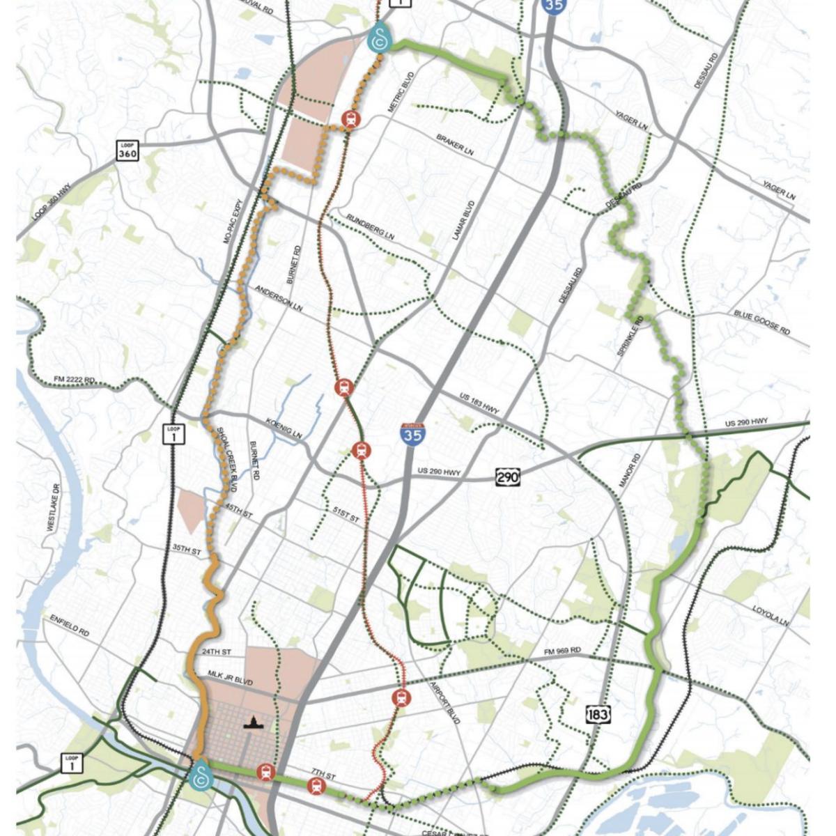 Austin Urban Trail Master plan
