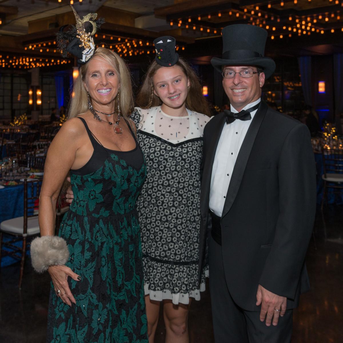 WITS Gala 2018: Dr. Melanie J. Malinowski, Echo Mariposa Malinowski-Cunningham, Dr. Andy D. Cunningham.