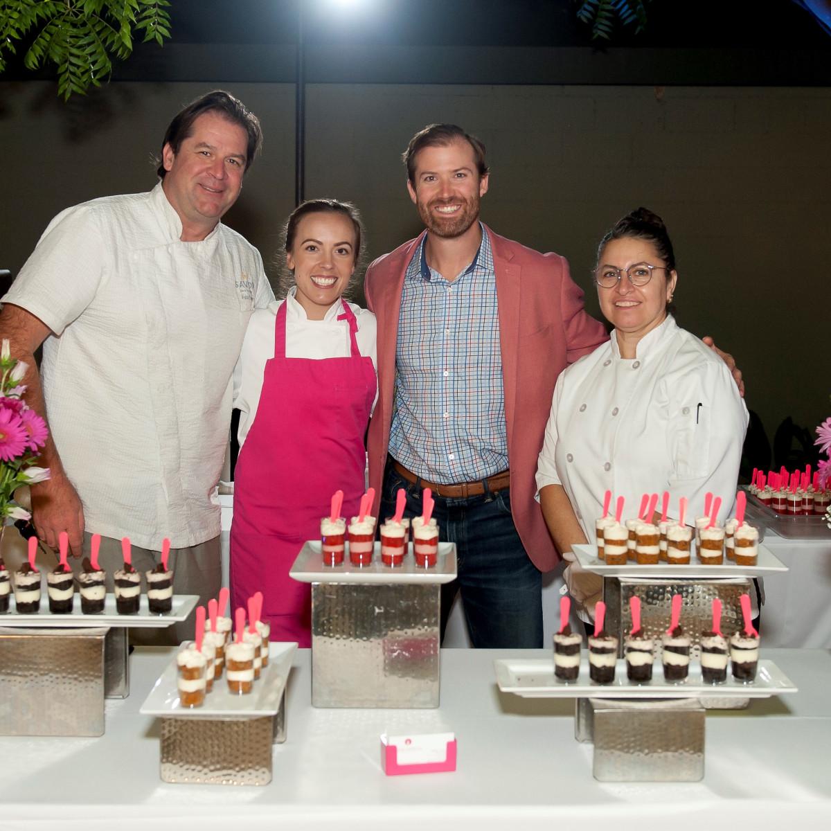Chef John Coleman of Savor Gastropub, Julie Vorce of Pink Apron Pastry, and staff, Park & Palate