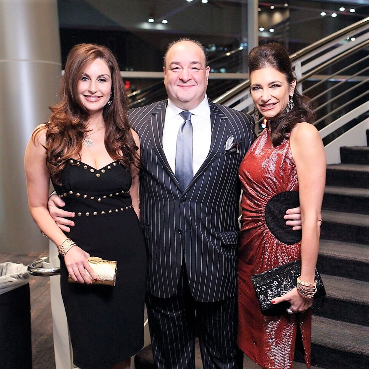 Una Notte-Co-Chairs Brigitte Kalai and Melissa Mithoff with Bashar Kalai