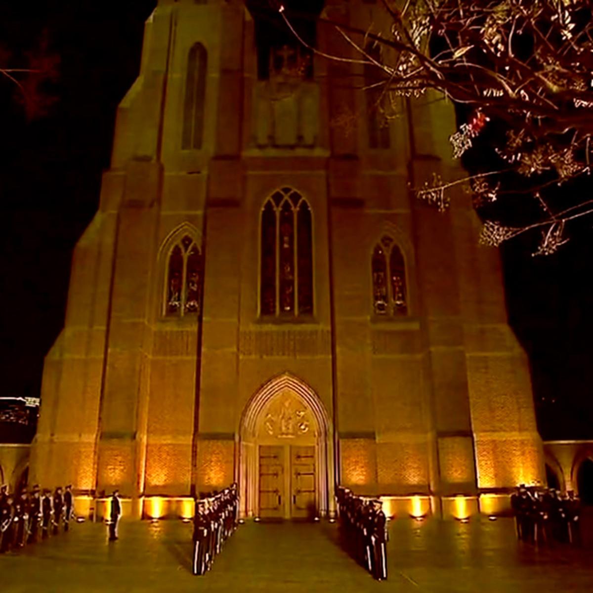 President George HW Bush St martin's church public visitation exterior