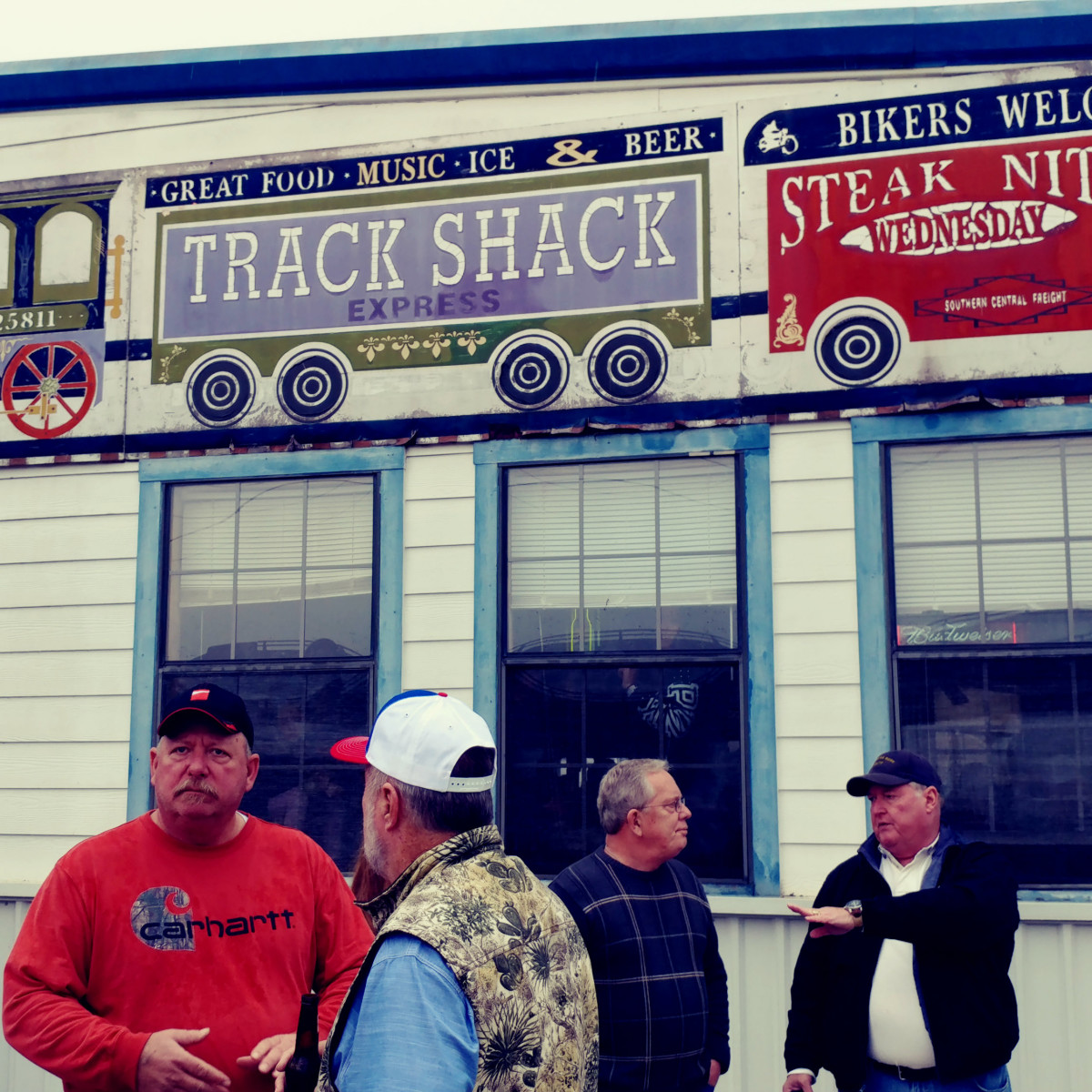 President Bush train 4141 procession Spring Track Shack