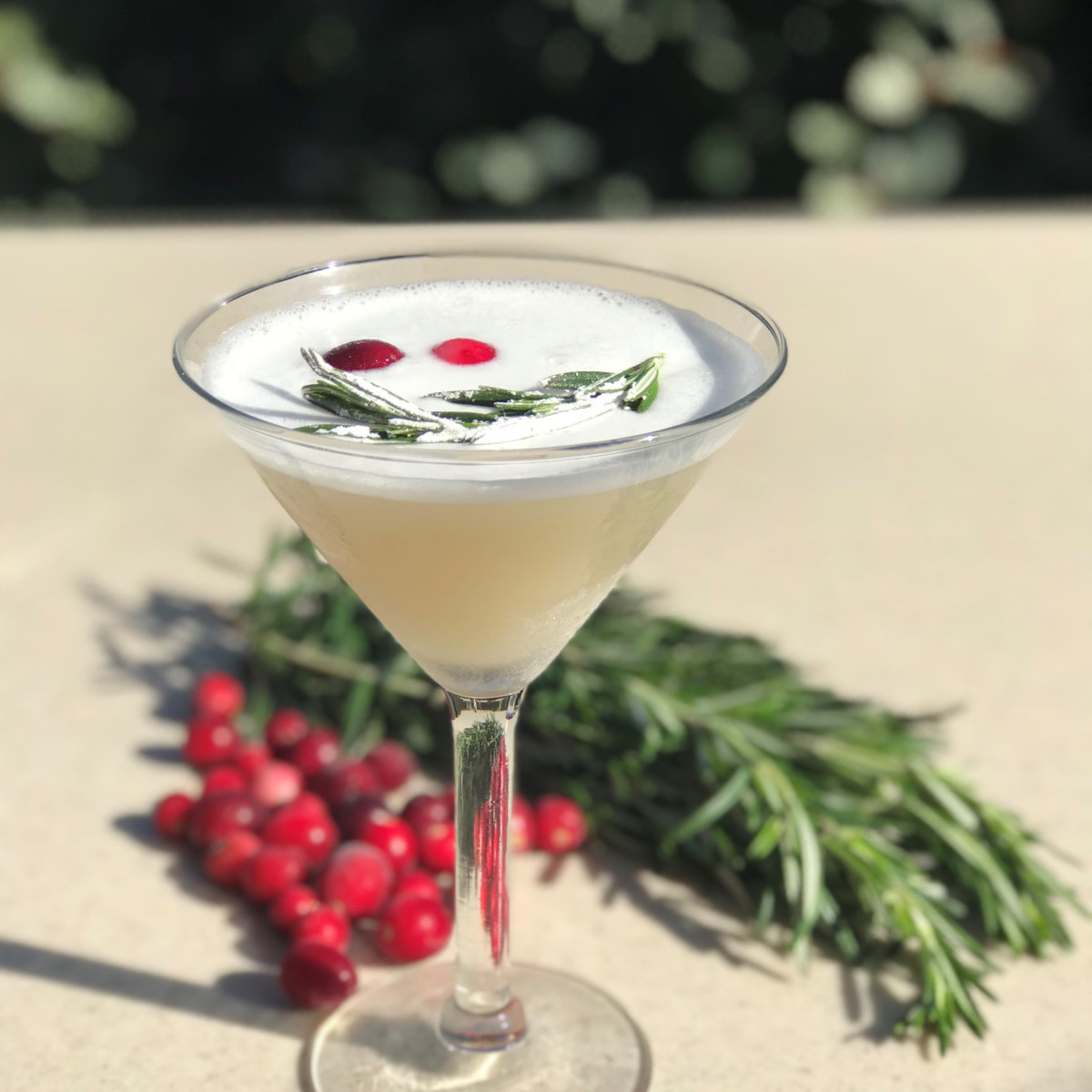 Mistletoe martini cocktail, Mi Dia from Scratch