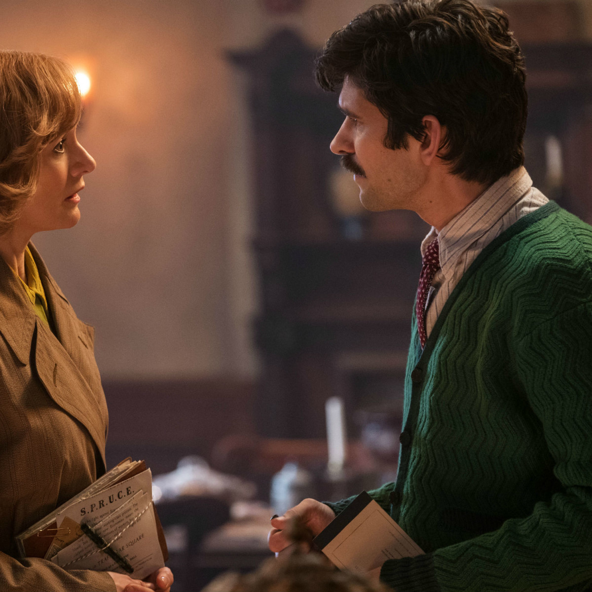 Emily Mortimer and Ben Whishaw in Mary Poppins Returns