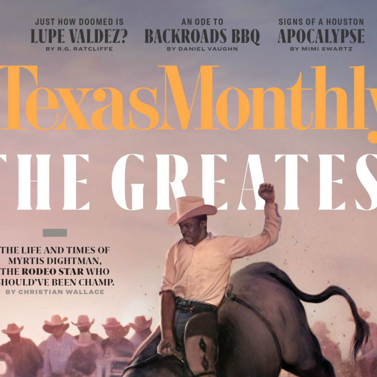 Texas Monthly cover by Leann Mueller