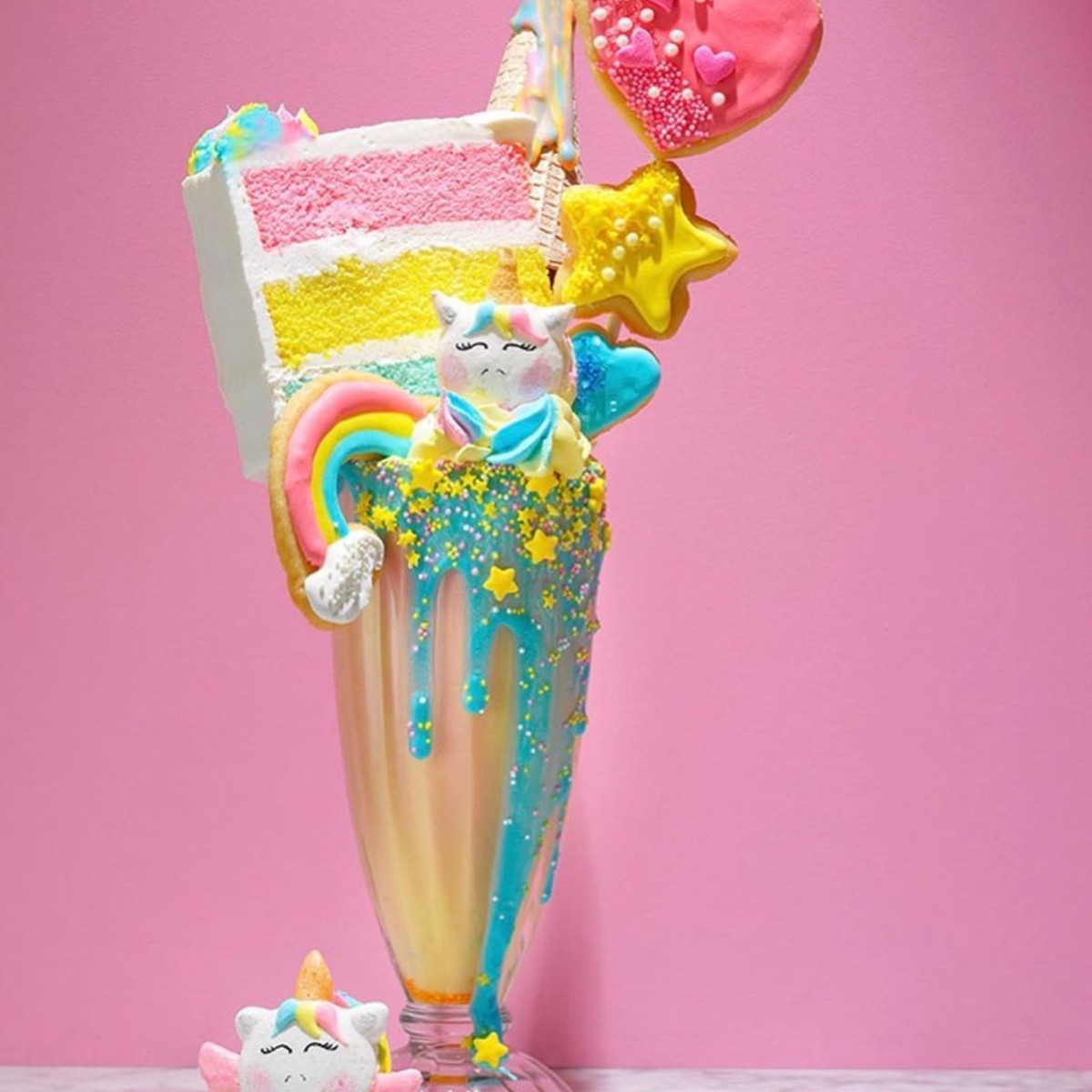 Magical Dessert bar unicorn milkshake