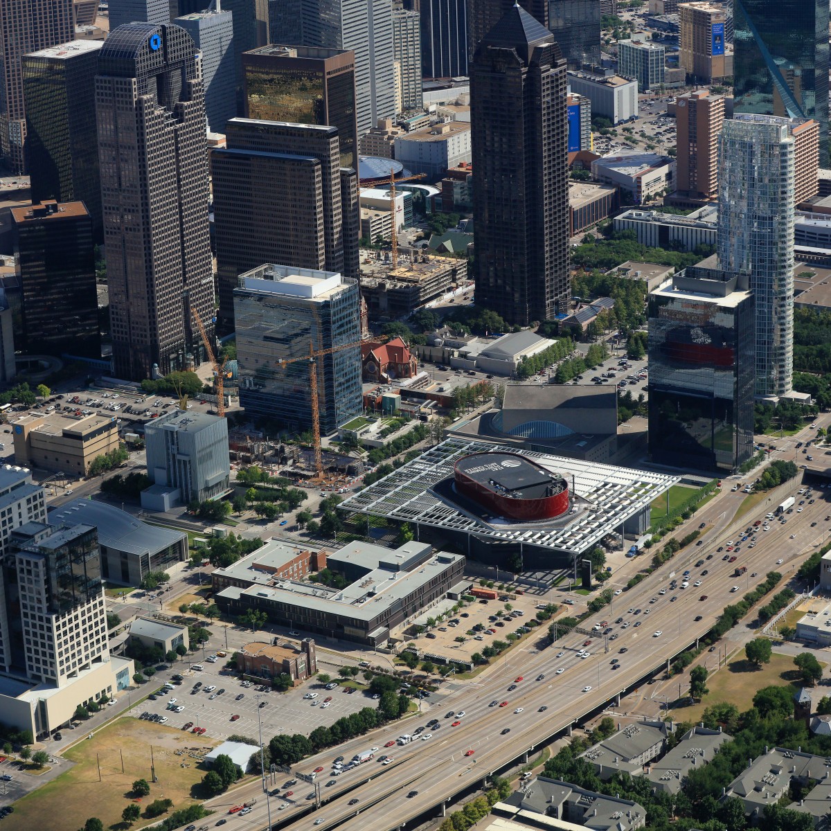 Dallas Arts District aerial