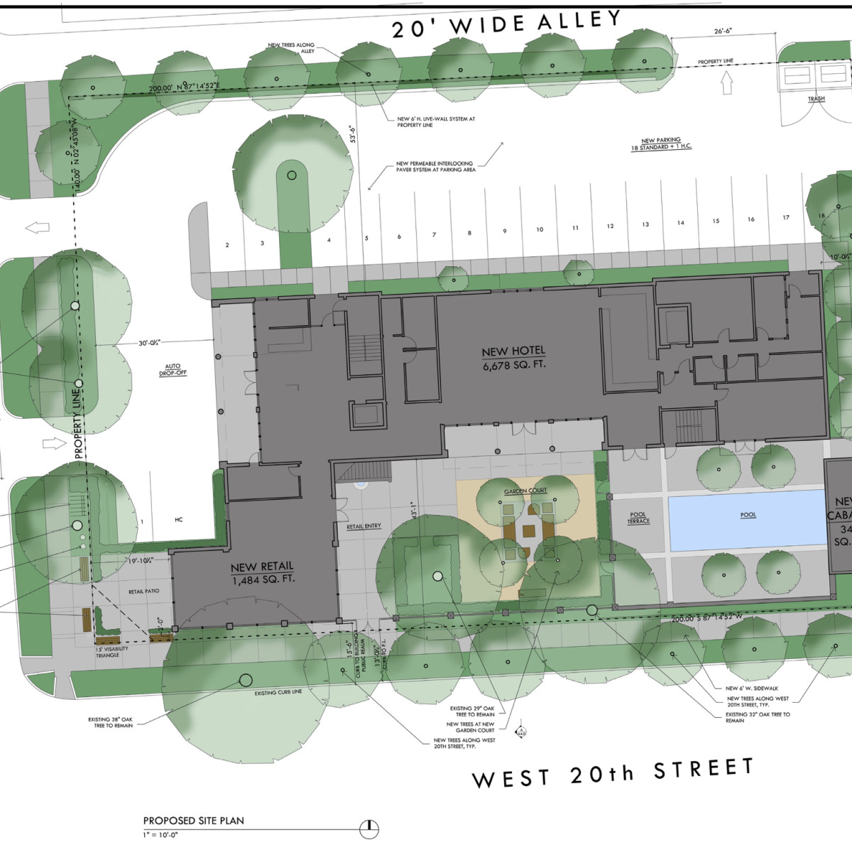 Maison Robert Heights hotel site plan