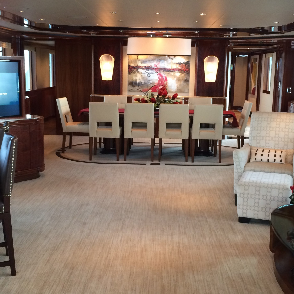 Tilman Fertitta yacht interior in Biloxi May 2014