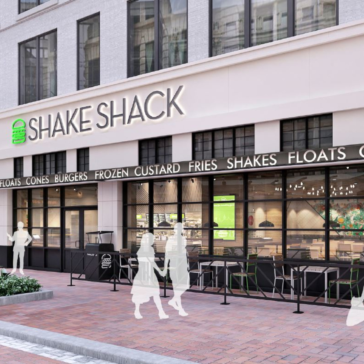 Shake Shack Houston downtown rendering
