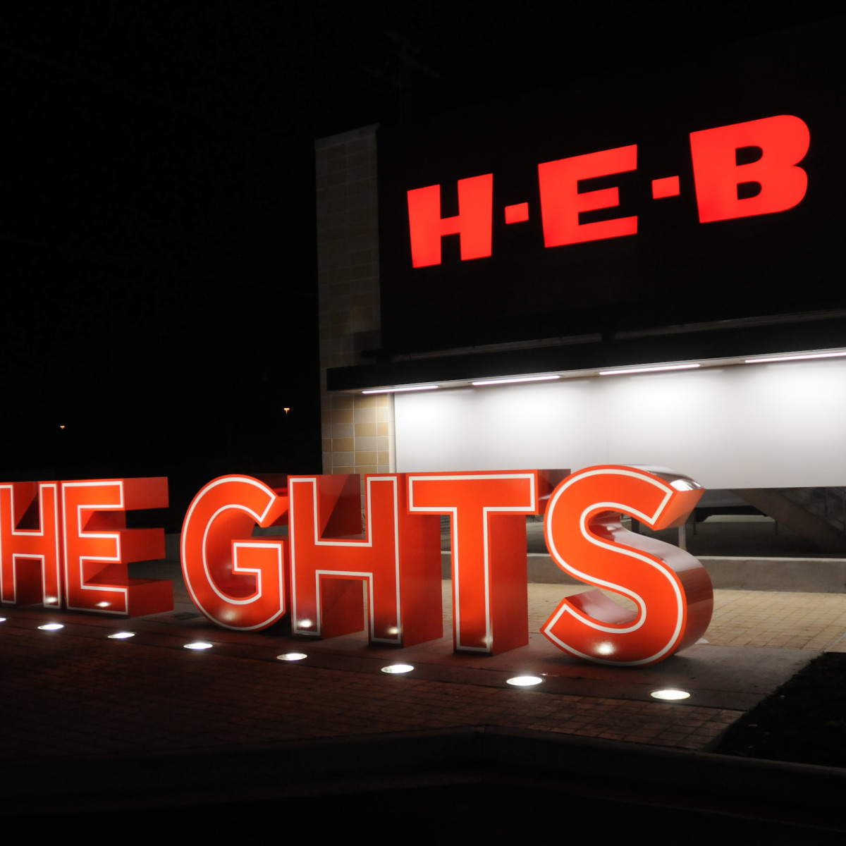 H-E-B Heights sign