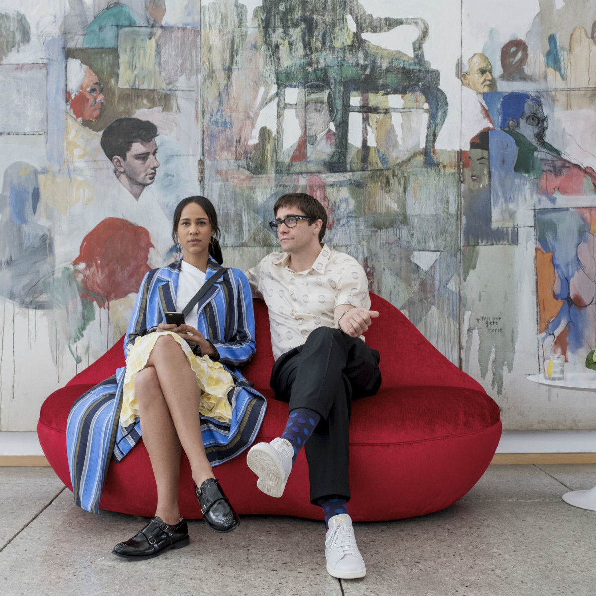 Zawe Ashton and Jake Gyllenhaal in Velvet Buzzsaw