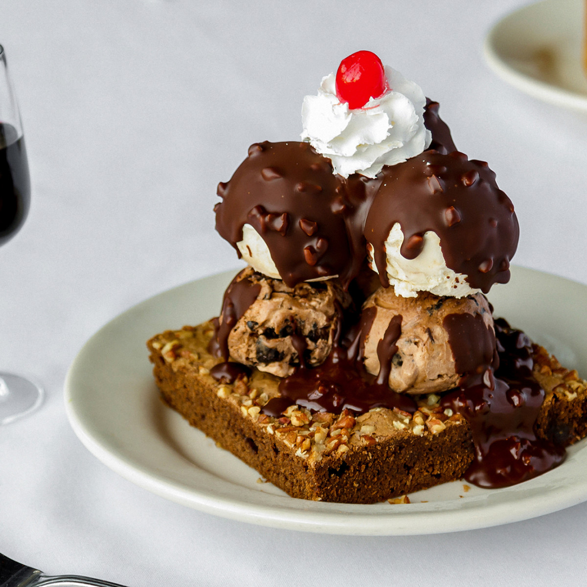 Bob's Steak and Chop House brownie sundae
