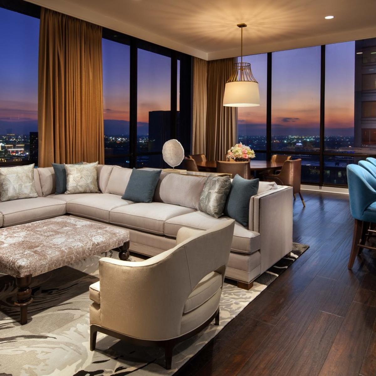 Westin Oaks Houston Heavenly Suite living room