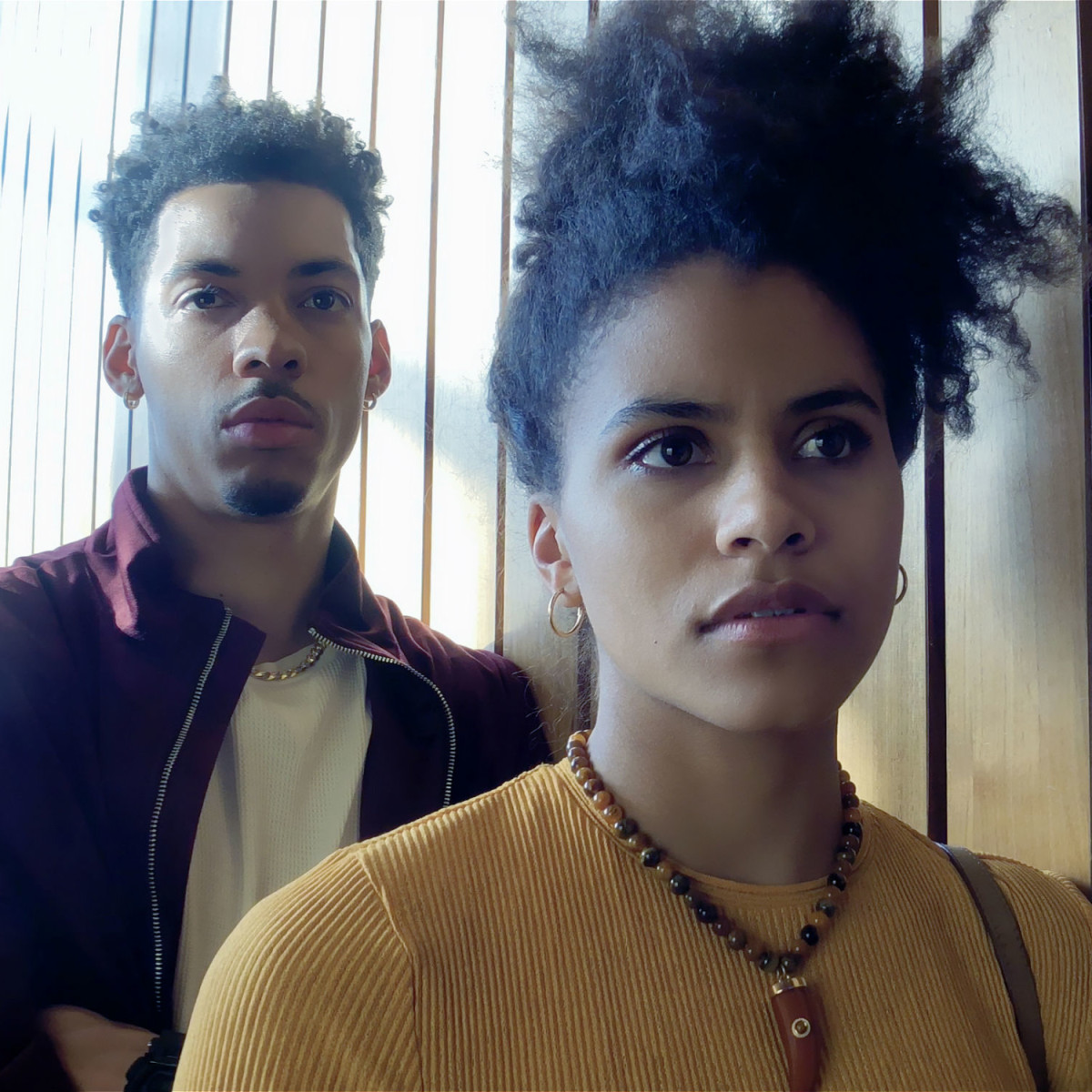 Melvin Gregg and Zazie Beetz in High Flying Bird