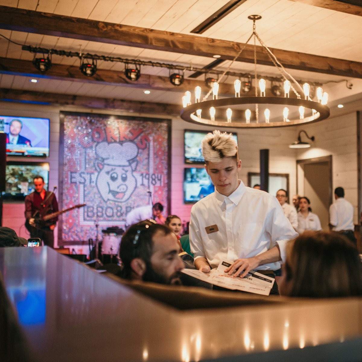 Corky's BBQ interior