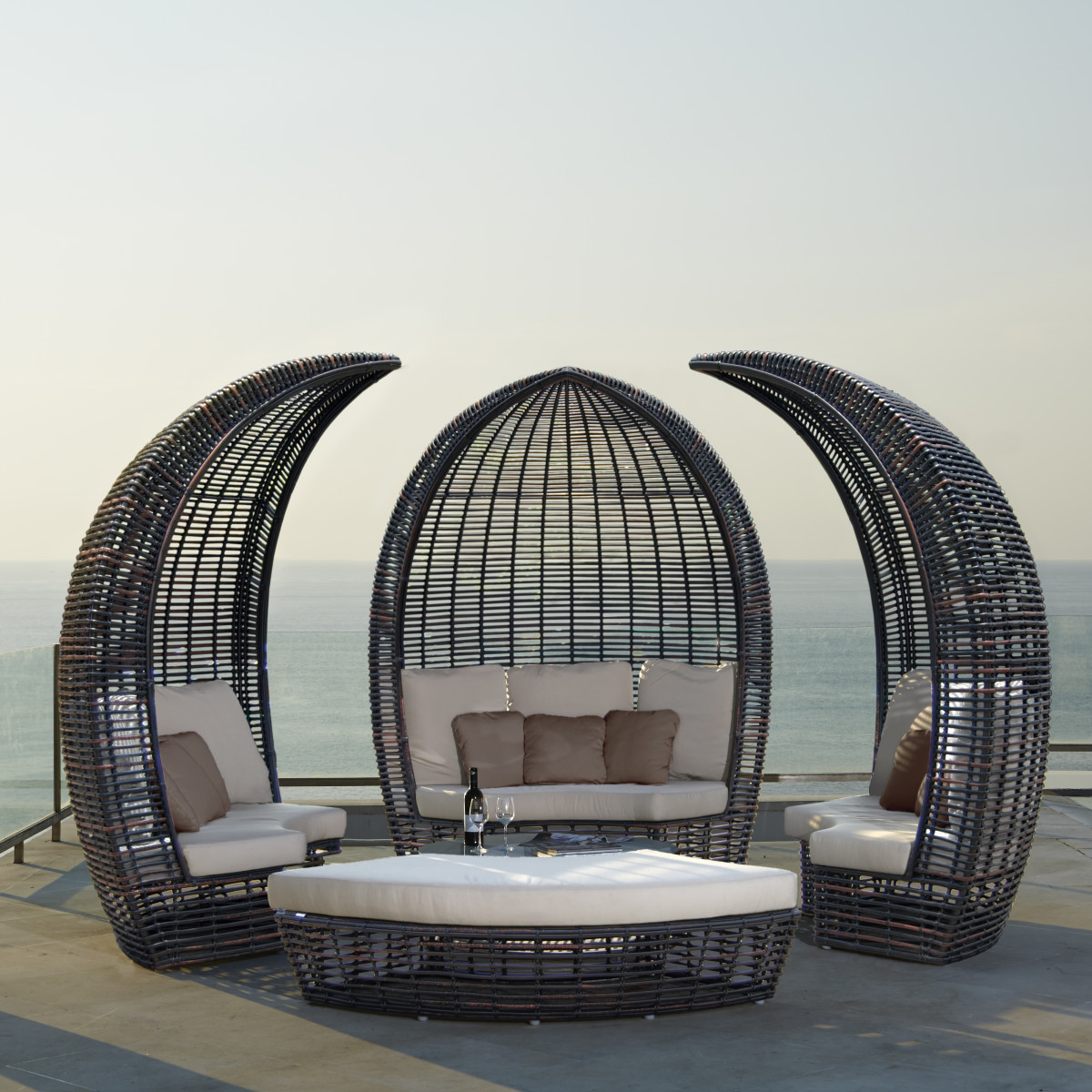 Patio furniture outside in tropical location