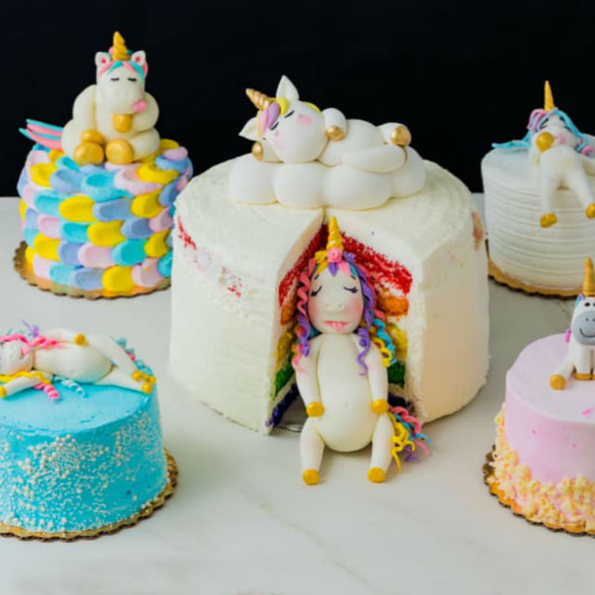 Magical Dessert bar unicorn cake