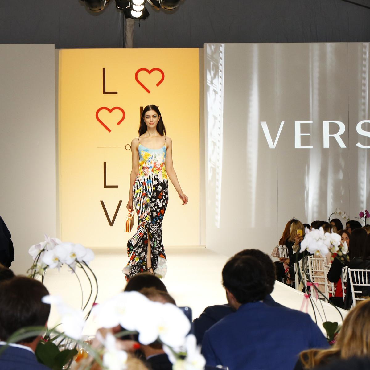 Versace runway look