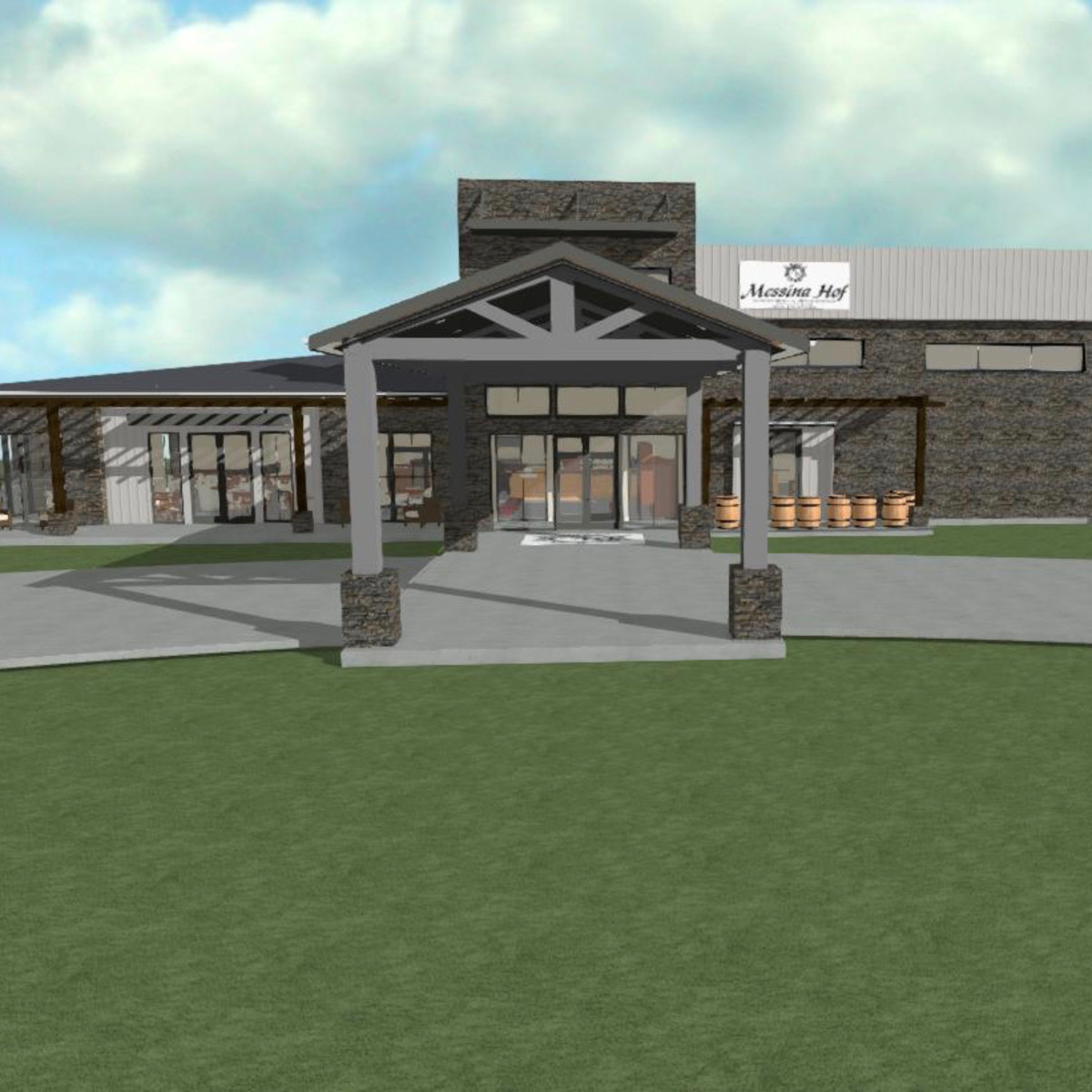 Messina Hof Harvest Green winery rendering
