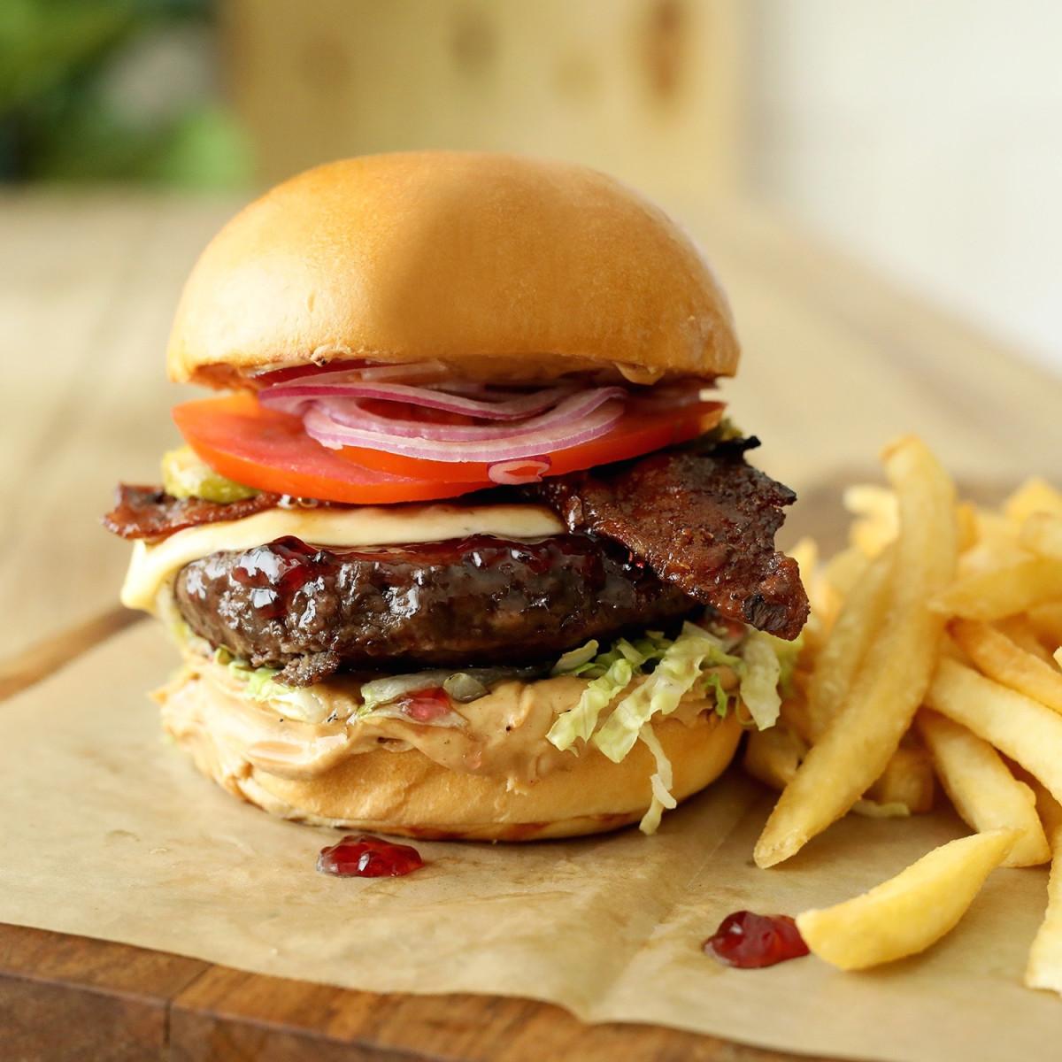 Lazy Dog Restaurant & Bar PB&J burger