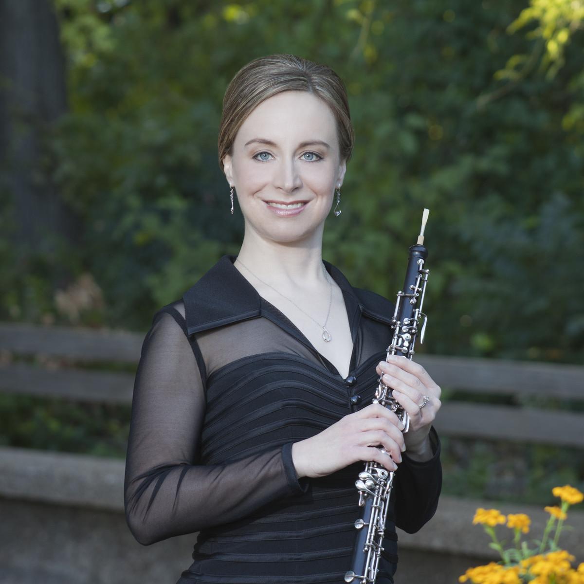 Jennifer Corning Lucio, FWSO oboe, Concerts in the Garden