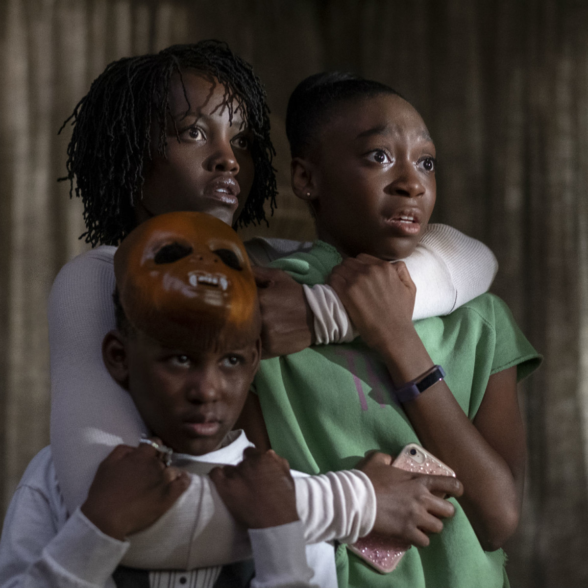 Lupita Nyong'o, Evan Alex, and Shahadi Wright Joseph in Us