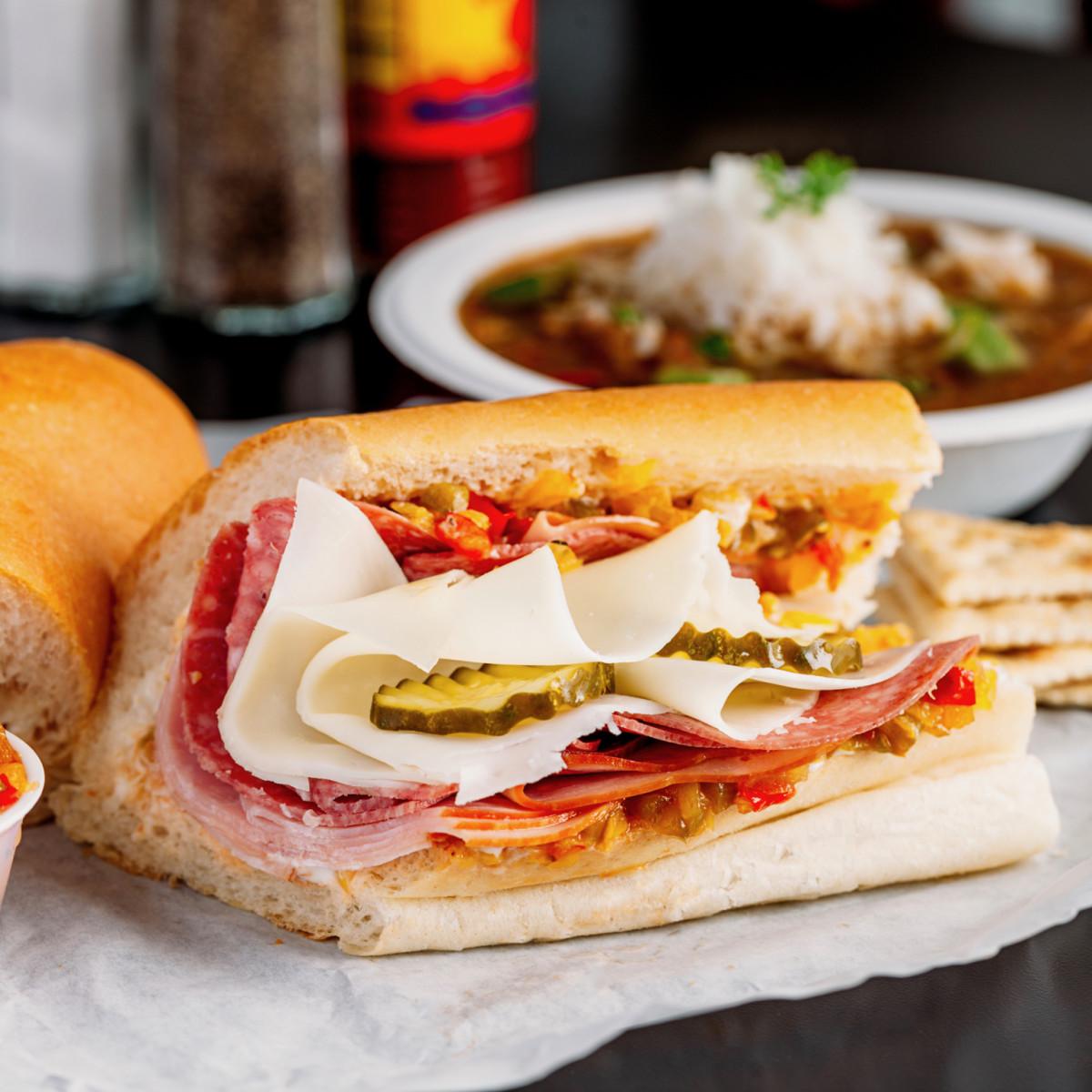 Antone's Famous Po' Boys Super Original sandwich