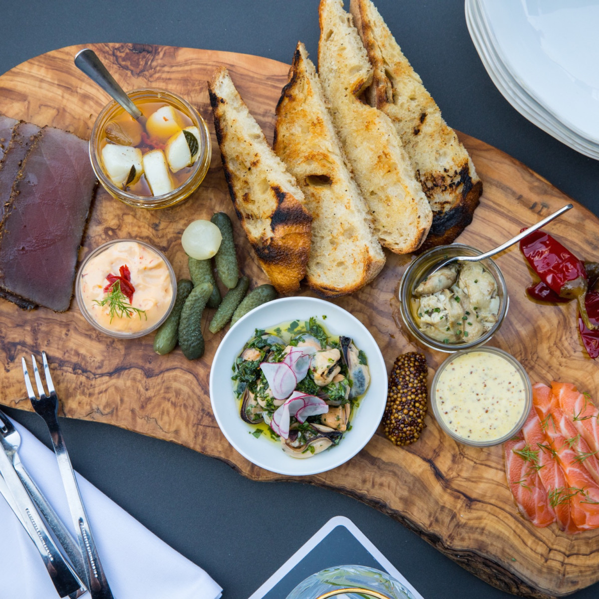 1751 Sea and Bar smoked fish board