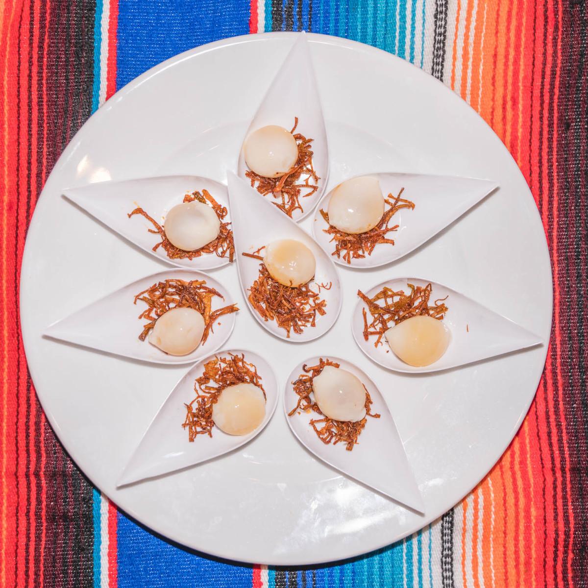 CultureMap Tastemakers 2019 Bob Bullock Museum Pitchfork Pretty Pickled Quail Eggs