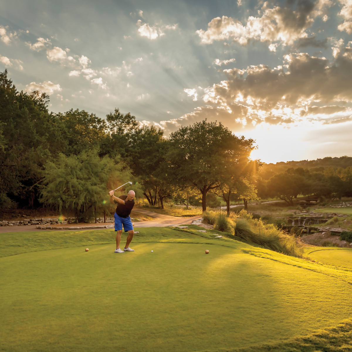 A gold course at Omni Barton Creek Resort