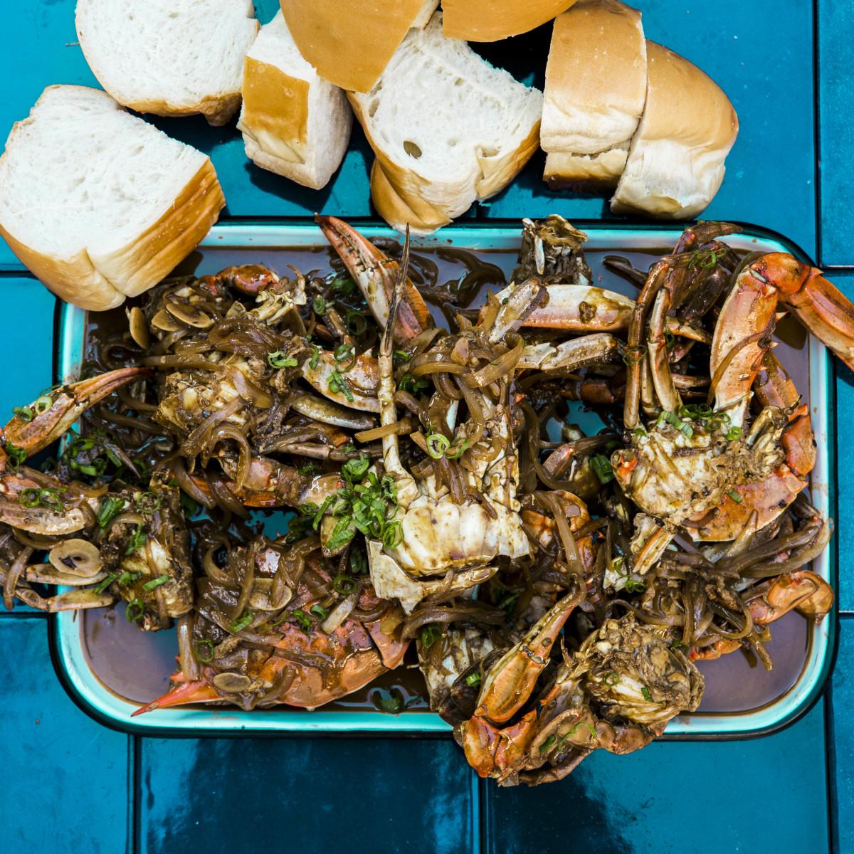Chris Shepherd barbecue blue crab