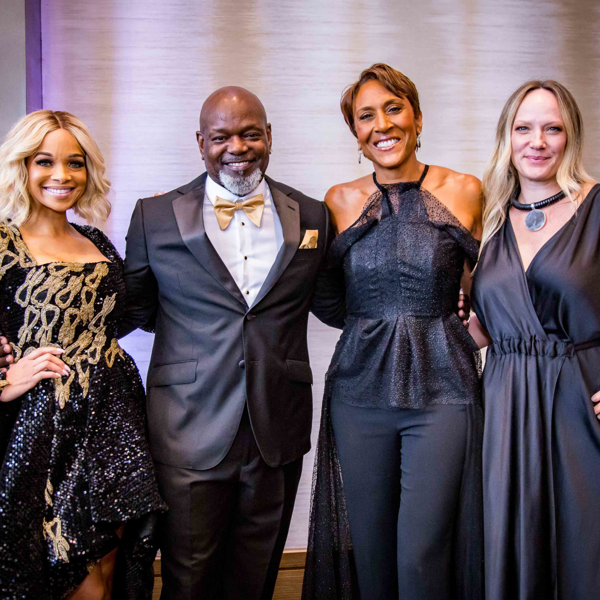 Pat Smith, Emmitt Smith, Robin Roberts, Amber Laign