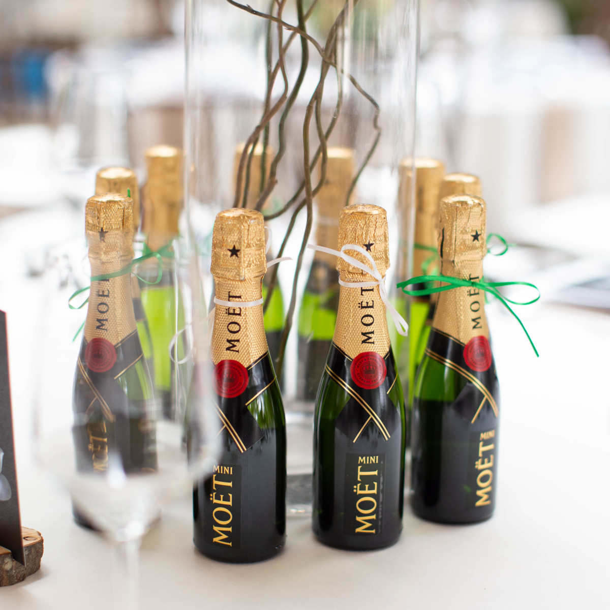 Moet mini champagne bottles