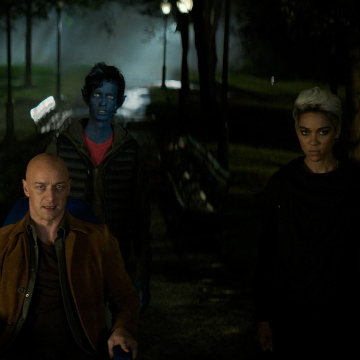James McAvoy, Kodi Smit-McPhee, and Alexandra Shipp in Dark Phoenix