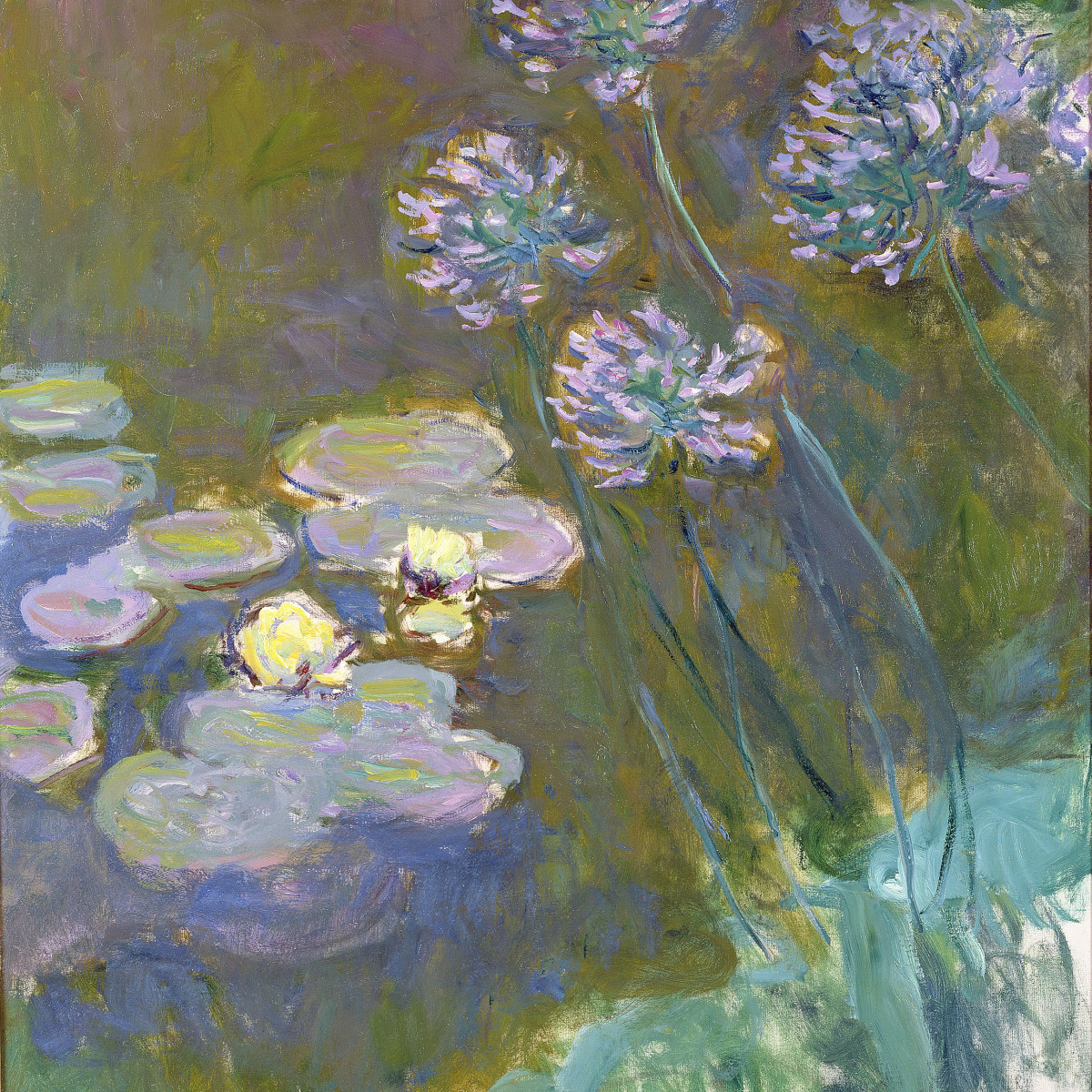 Monet, Water Lilies and Agapanthus