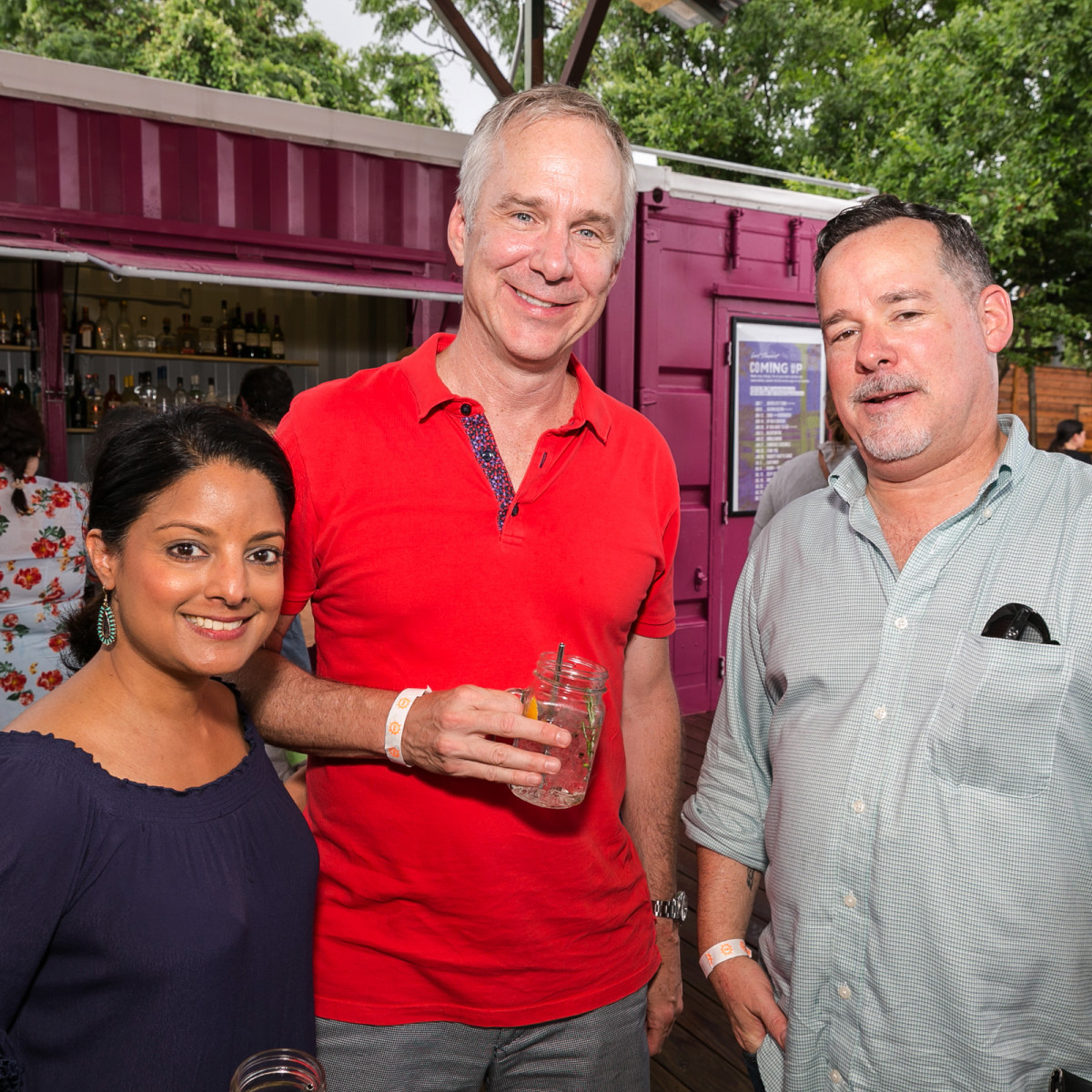 IHWSH father's day cookout Angela Shah. Kevin Hanratty. James Brock