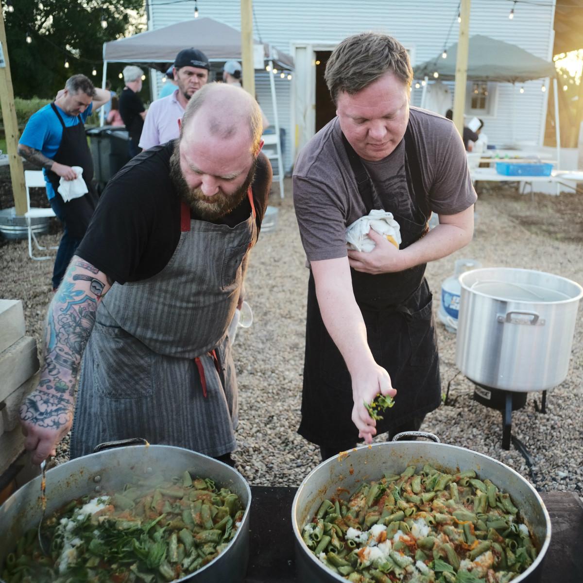 Chefs in the Field Hope Farms Summer 2019 Scott Ache Ben McPherson