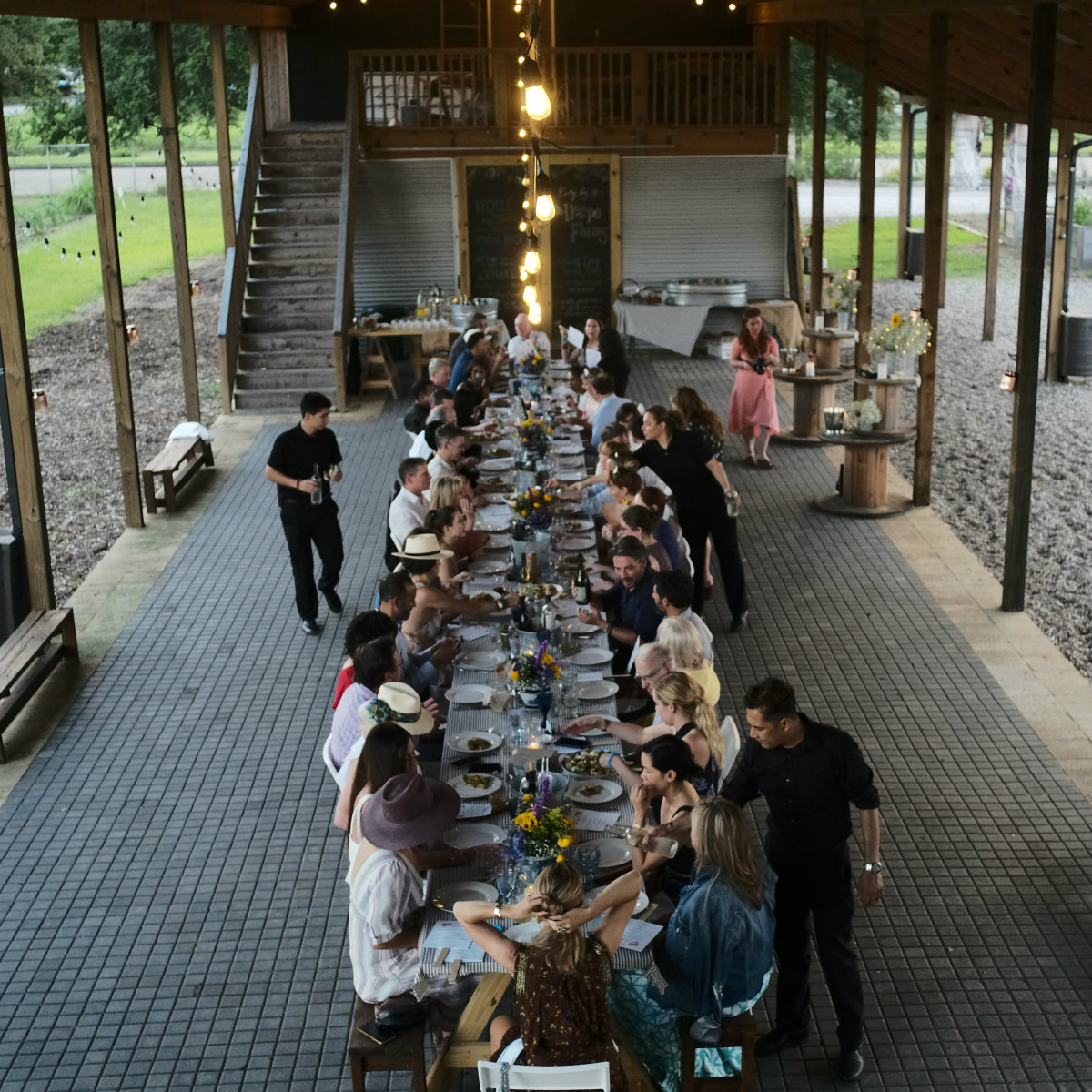 Chefs in the Field Hope Farms Summer 2019 table shot