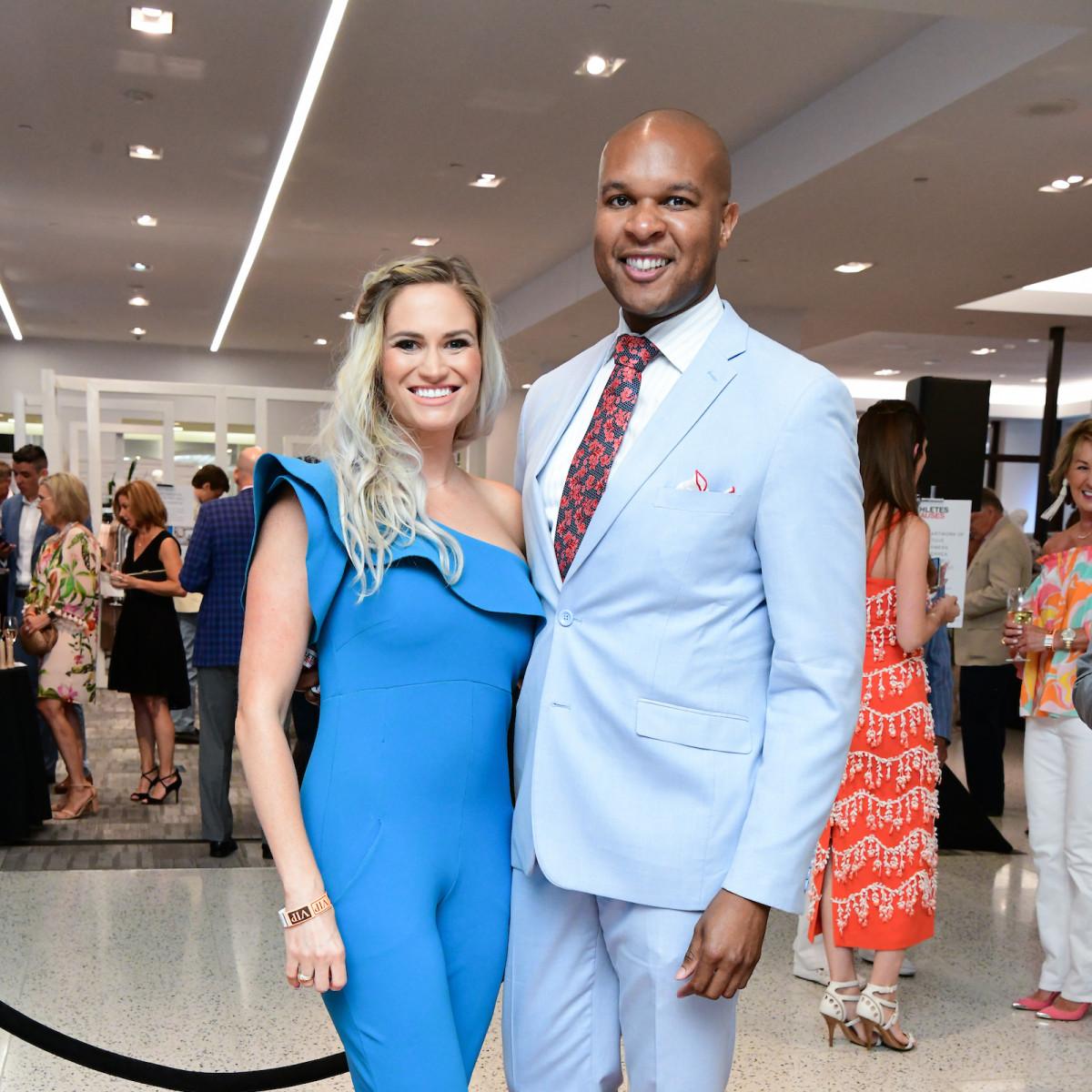 Houston Astros Team Up 4 Kids and K9s 2019 Lauren Varnado and Travis Torrence