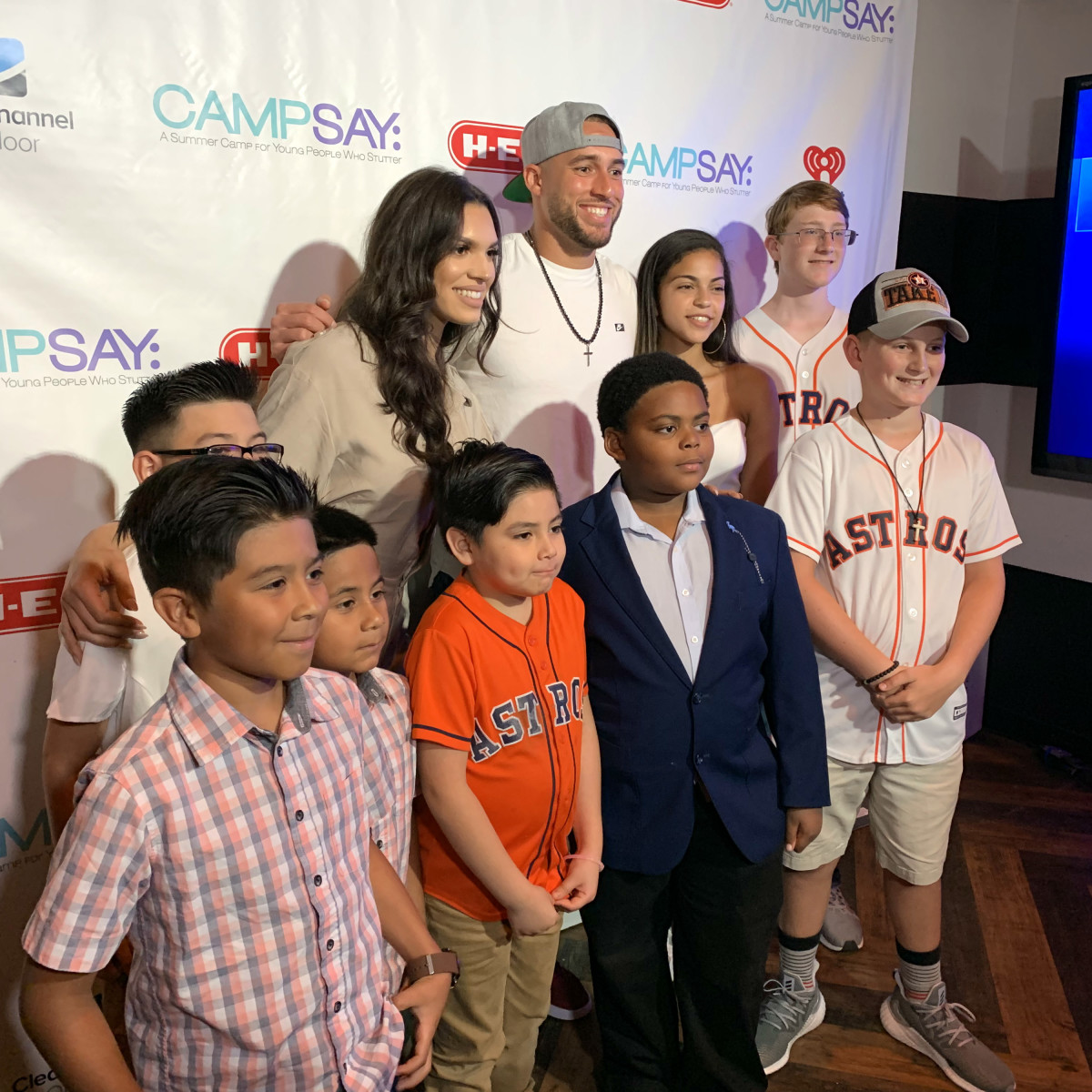 George Springer Camp SAY Bowling event 2019 Springer
