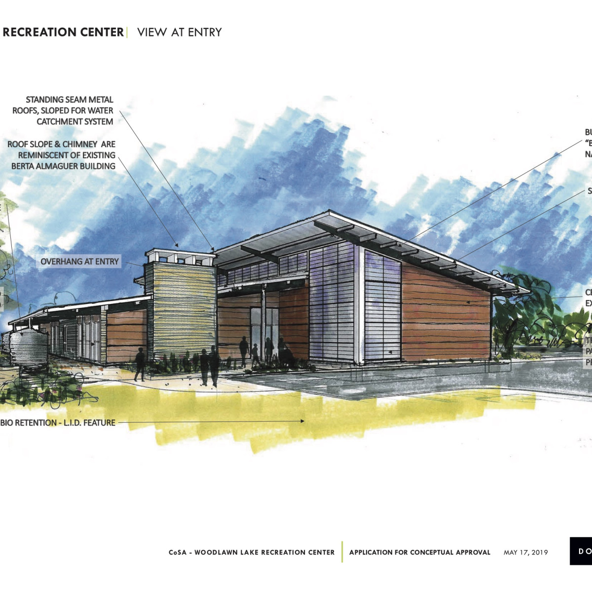 Rendering for the planned new Woodlawn Lake Recreation Center.
