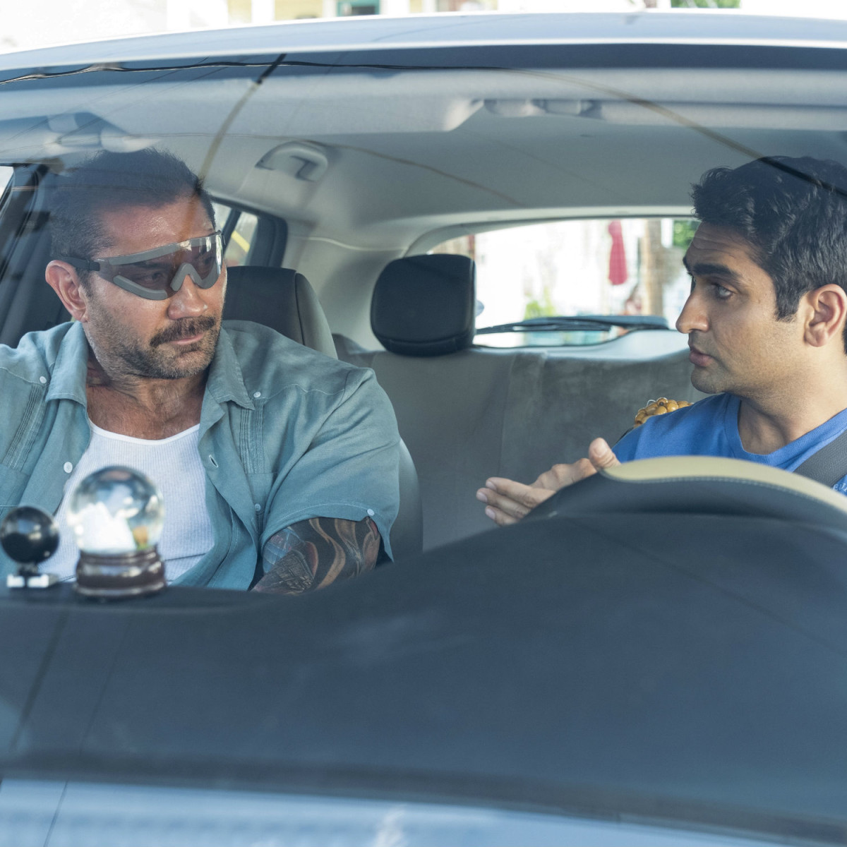 Dave Bautista and Kumail Nanjiani in Stuber