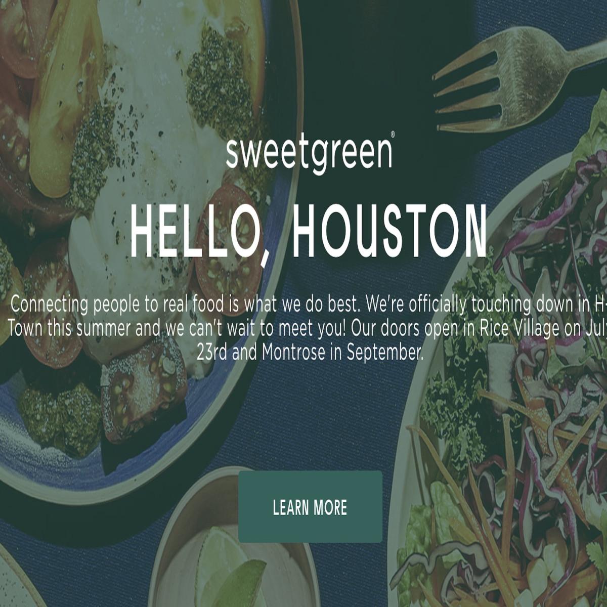 Sweetgreen opening date screen capture