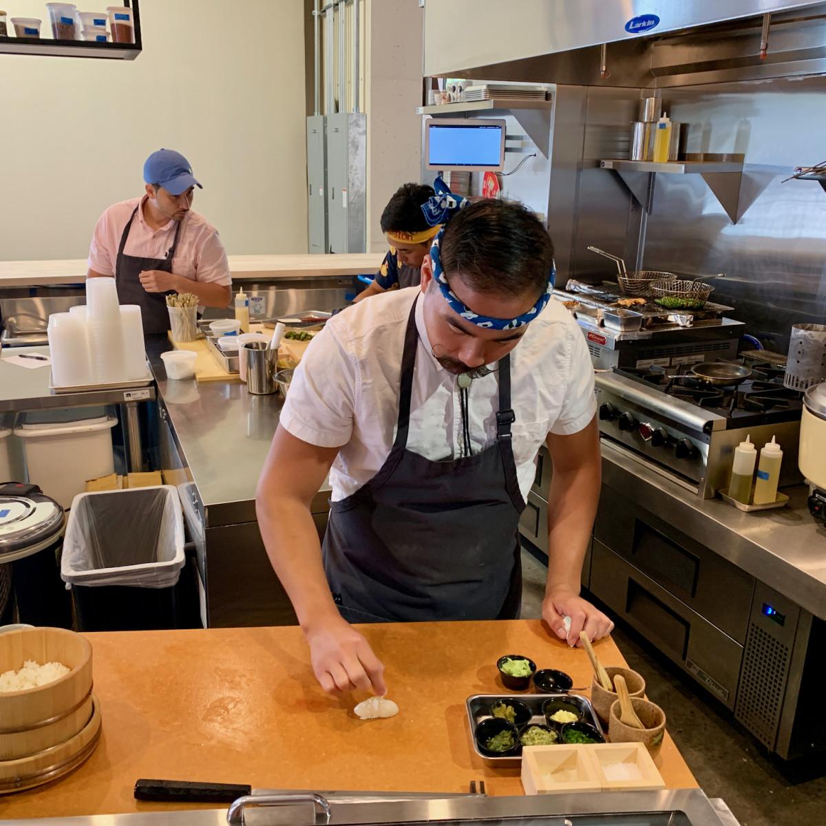 Bravery Chef Hall Kokoro Patrick Pham sushi prep