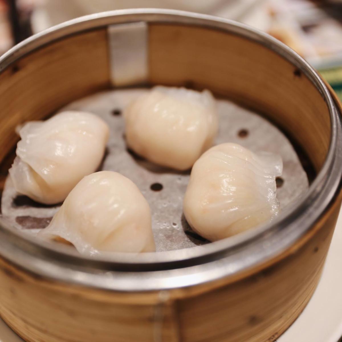 Tim Ho Wan dim sum shrimp dumplings