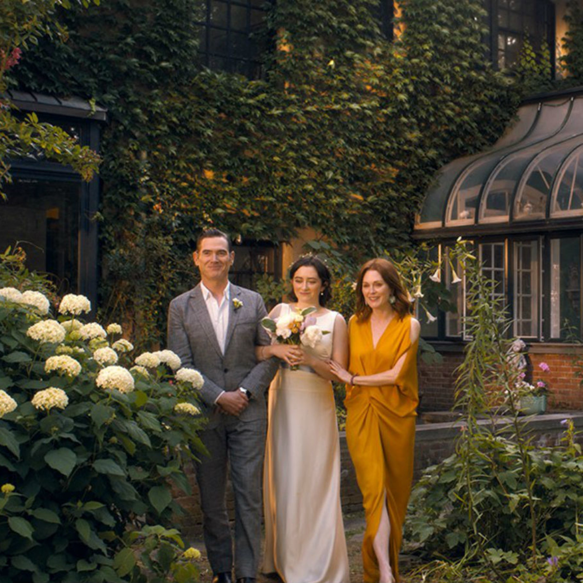 Billy Crudup, Abby Quinn, and Julianne Moore in After the Wedding